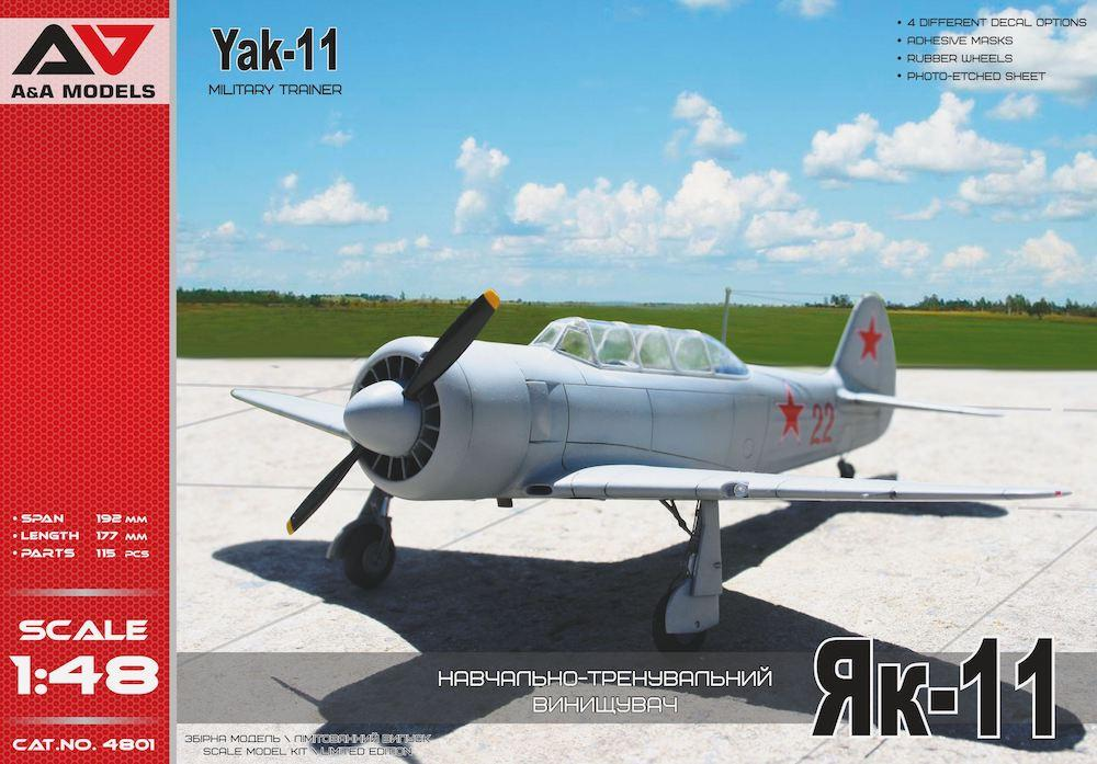 A&A MODELS 4801 Yakovlev Yak-11 Military Trainer