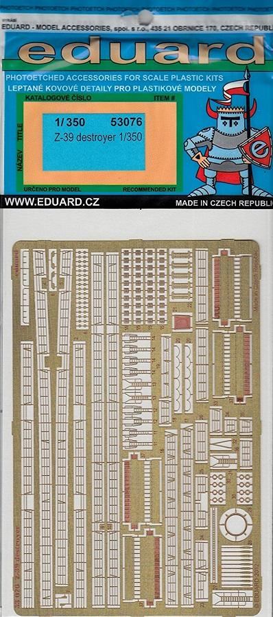 EDUARD 53076 Set for Z-39 Destroyer (Dragon)