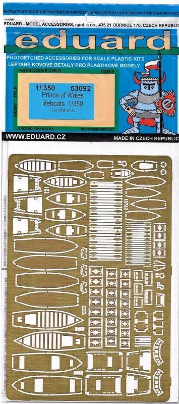 EDUARD 53092 Set for Prince of Wales Life Boats (Tamiya)