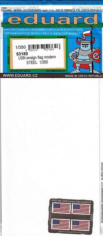 EDUARD 53180 Set for U.S.N. Ensign Flag Modern Steel