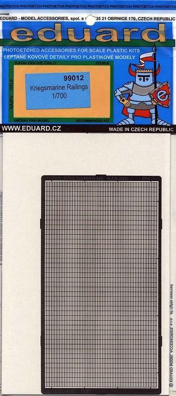 EDUARD 99012 Set for Kriegsmarine Railing