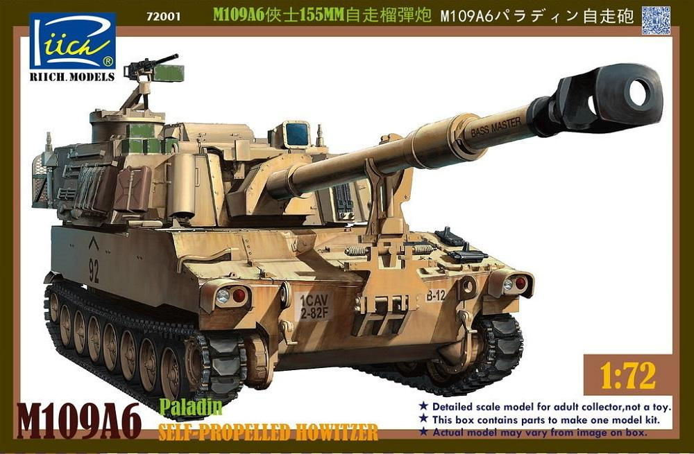 RIICH MODELS RT72001 U.S. Self-Propelled Howitzer M109A6 'Paladin'