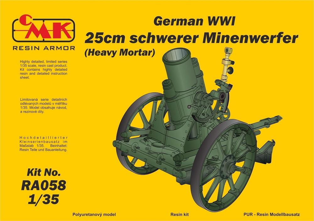 CMK RA058 German Heavy Mortar 25cm Schwerer Minenwerfer (WWI)