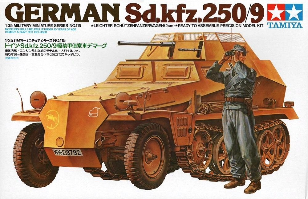 TAMIYA 35115 German Sd.Kfz.250/9 (WWII)