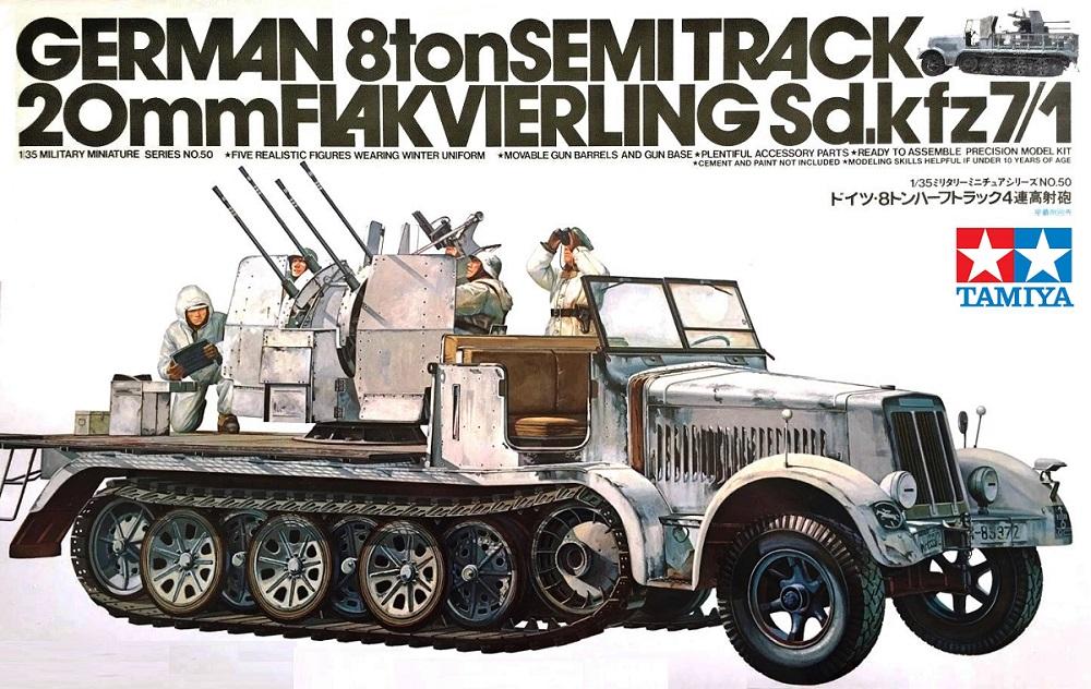 TAMIYA 35050 German 8ton Semitrack 20mm Flakvierling Sd.Kfz.7/1 (WWII)