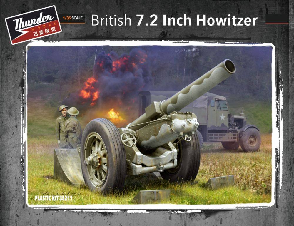 THUNDER MODEL 35211 British 7,2inch Howitzer (WWII)