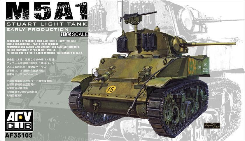 AFV CLUB AF35105 U.S. Light Tank M5A1 'Stuart' (Early Production)