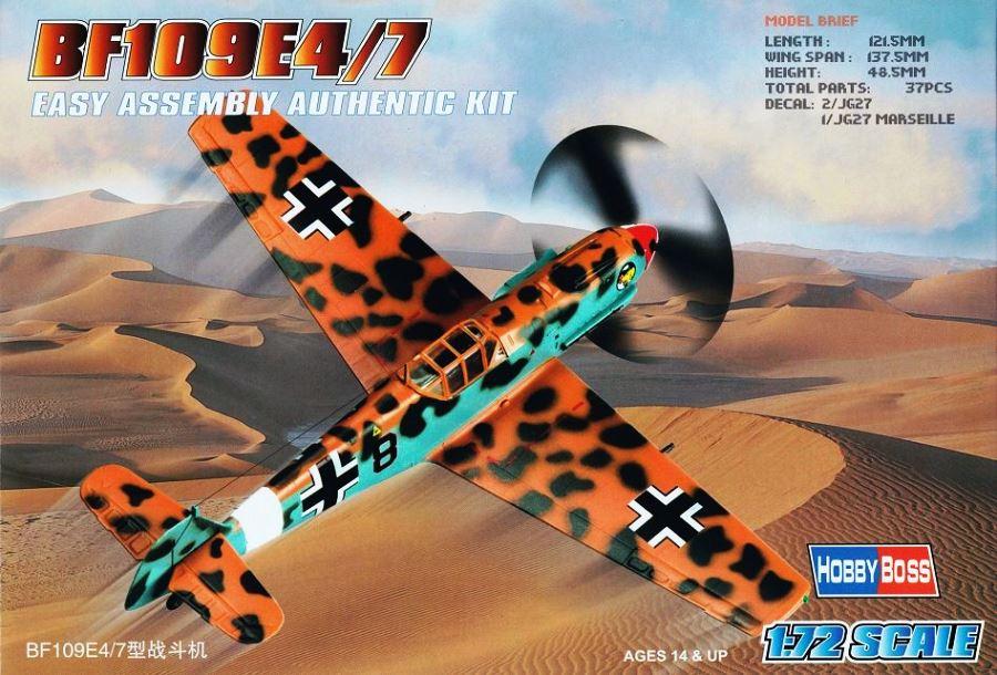 HOBBYBOSS 80254 Messerschmitt Bf 109E-4/E-7