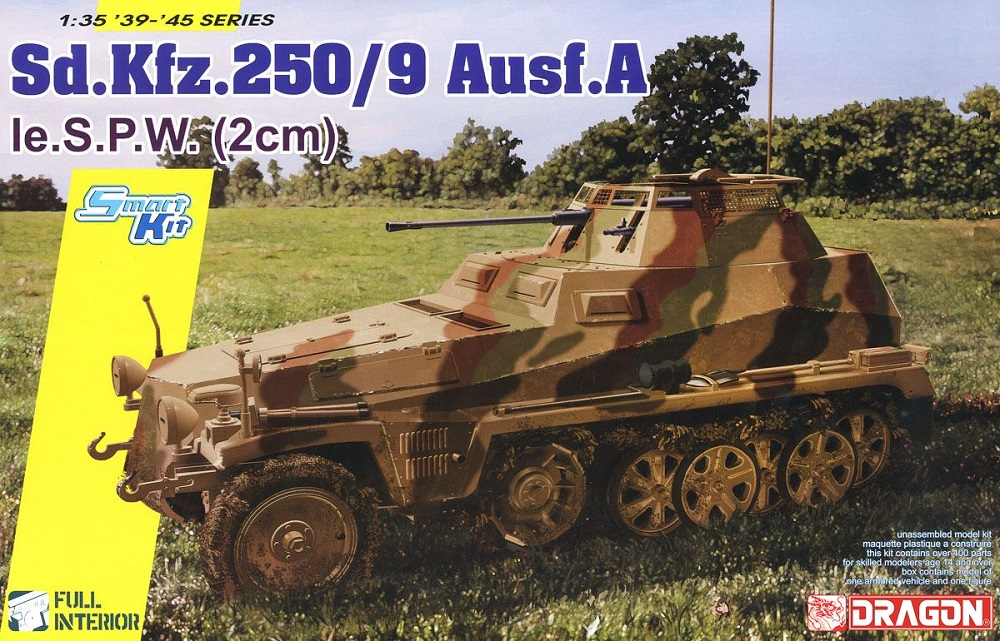 DRAGON 6882 German Sd.Kfz.250/9 Ausf.A le.S.P.W. (2cm)