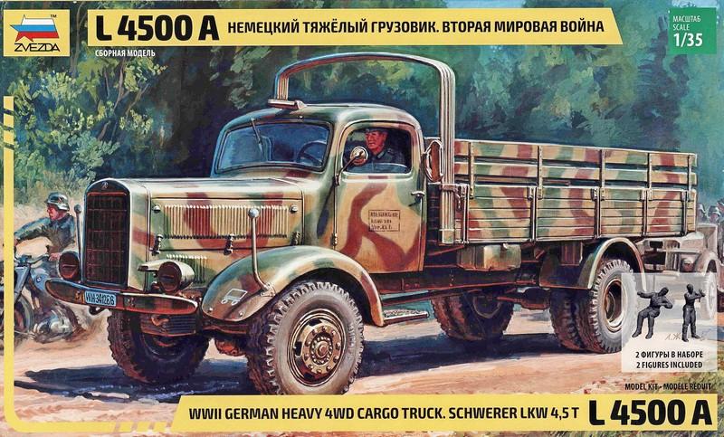 ZVEZDA 3596 German Heavy Cargo Truck L-4500A (WWII)