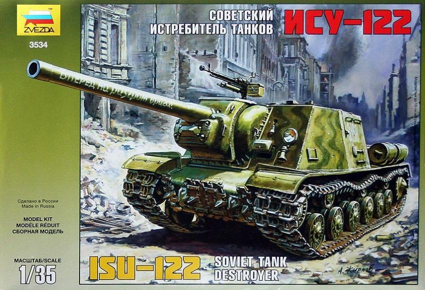 ZVEZDA 3534 Soviet Tank Destroyer ISU-122 (WWII)