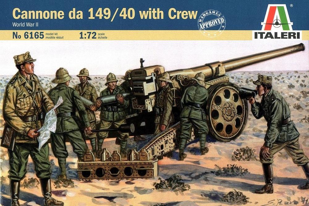 ITALERI 6165 Italian Cannone da 149/40 with Crew (WWII)