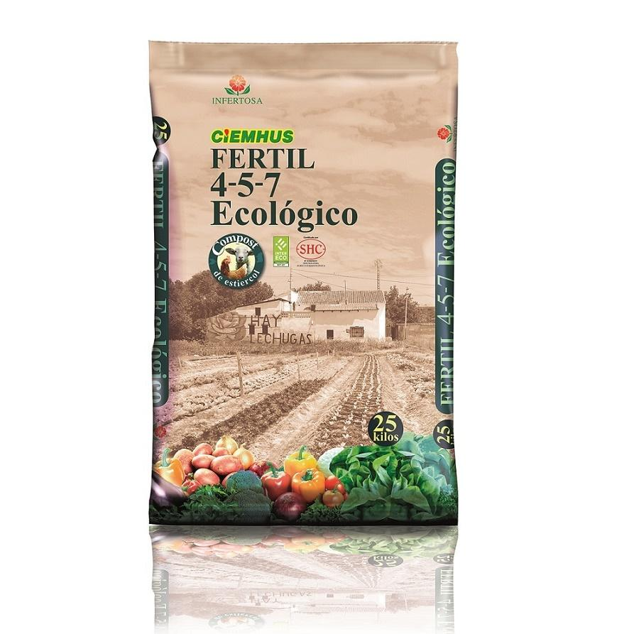 Infertosa CIEMHUS FERTIL 4-5-7 ECOLOGICO PELETIZADO 25kg
