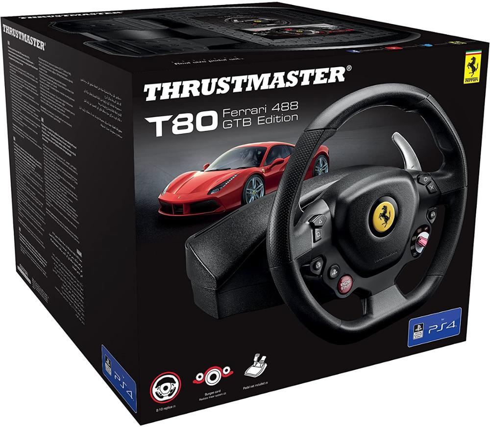 THRUSTMASTER T80 RW FERRARI 488 GTB - VOLANTE OFICIAL PS4