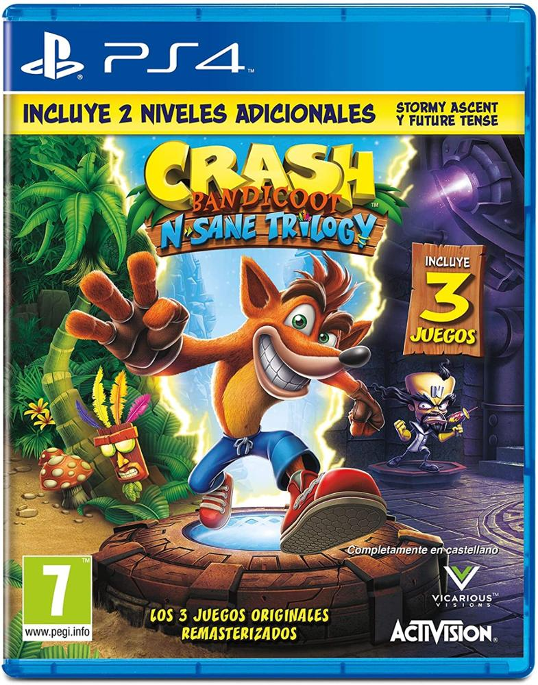 PS4 JUEGO CRASH BANDICOOT N.SANE TRILOGY 2.0