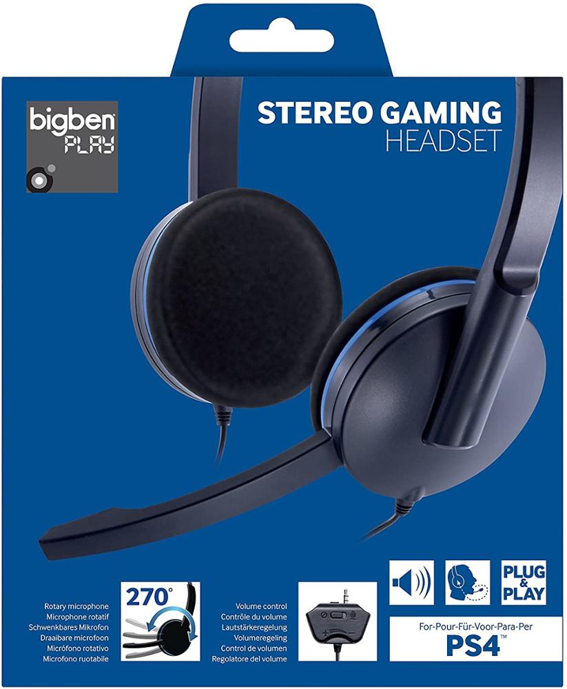 BIGBEN GAMING HEADSET PS4 CON CABLE