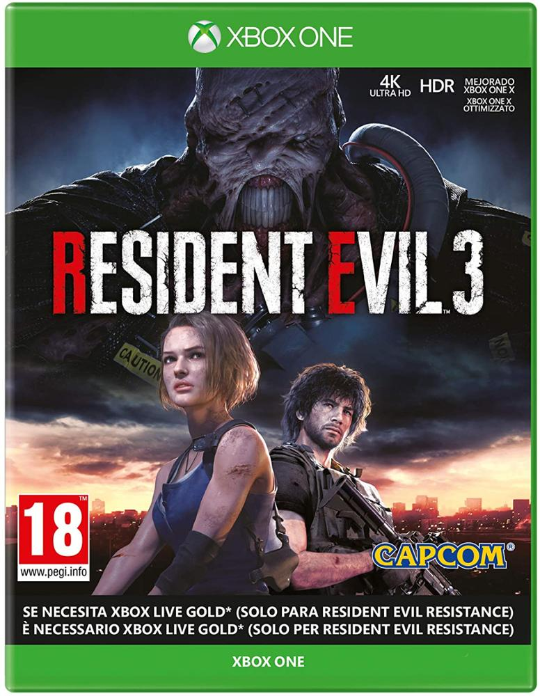 XBOX ONE JUEGO RESIDENT EVIL 3