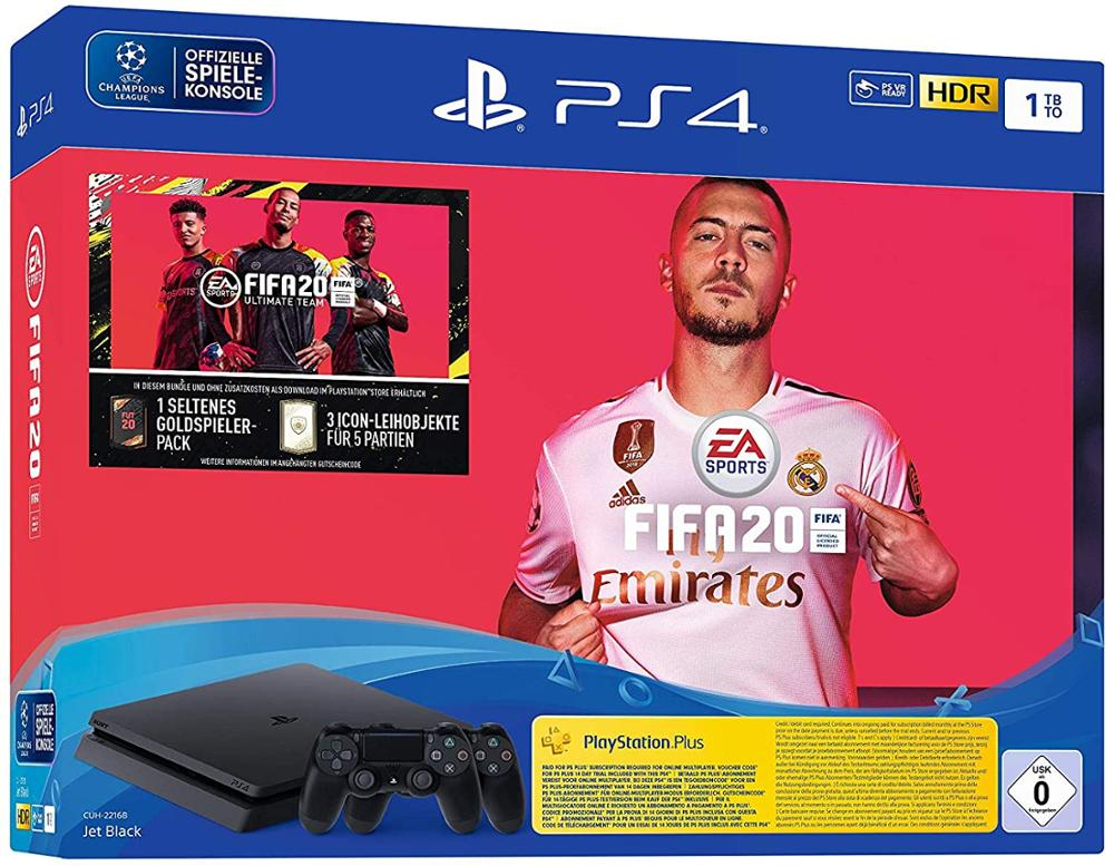 SONY PLAYSTATION 4 1TB + FIFA 20 + DUALSHOCK 4 V2 ADICIONAL