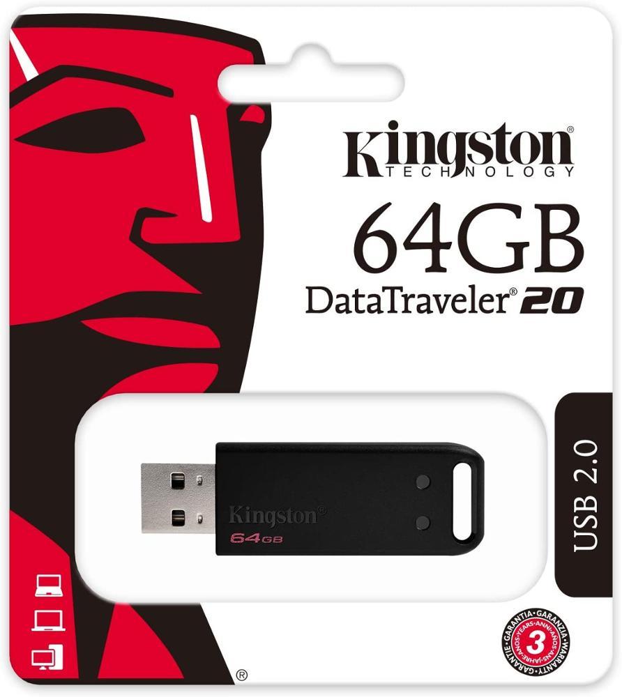 KINGSTON DT20 PENDRIVE 64GB USB2.0