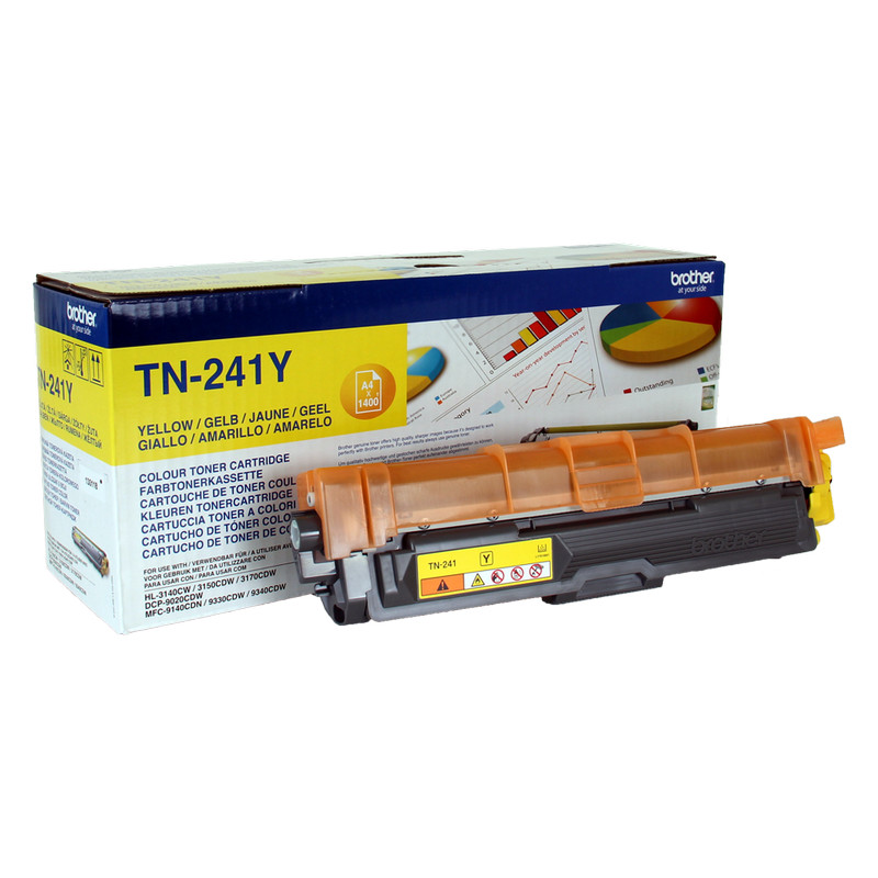 BROTHER TONER TN241Y AMARILLO - 1400 PAGINAS