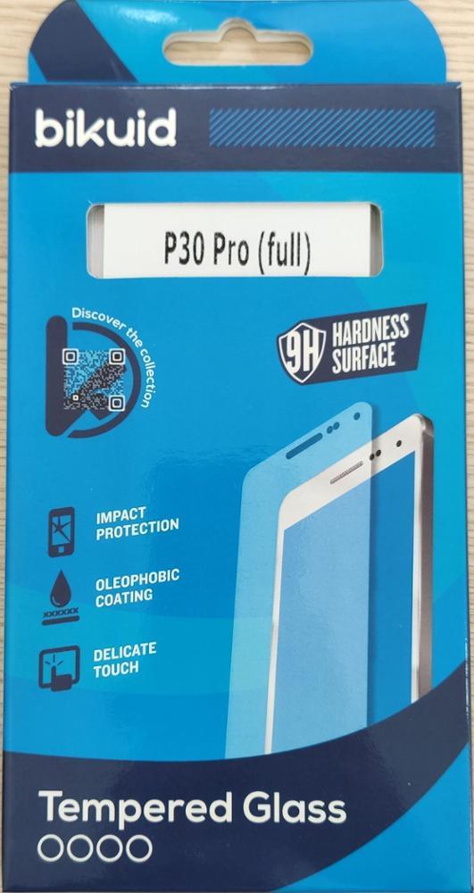 Bikuid Protector pantalla Cristal templado Huawei P30 Pro - Full Cover