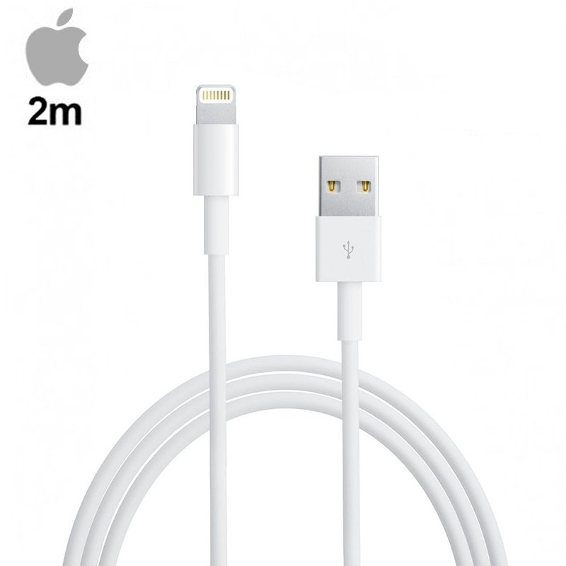 COOL CABLE USB ORGINAL IPHONE 5 / 5S / 6 / 6 PLUS / 7 / 7 PLUS / IPAD MINI / IPAD 4 (SIN BLISTER) - 2M