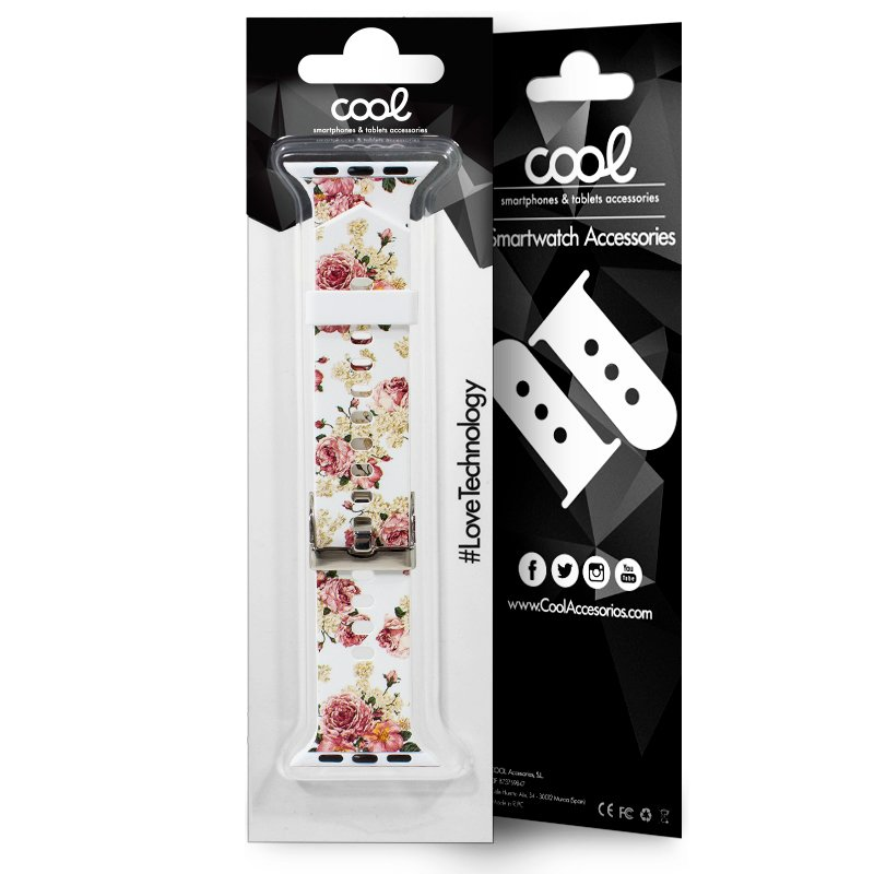 COOL CORREA APPLE WATCH SERIES 1/2/3/4/5 (38/40MM) - ESTAMPADO FLORES
