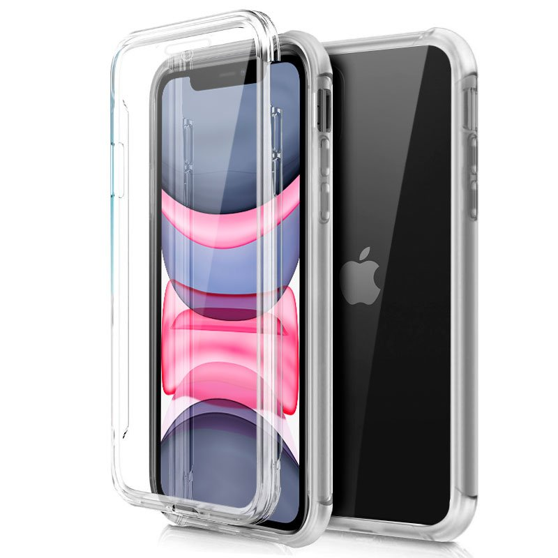 COOL FUNDA SILICONA 3D IPHONE 11 (TRANSPARENTE FRONTAL + TRASERA)