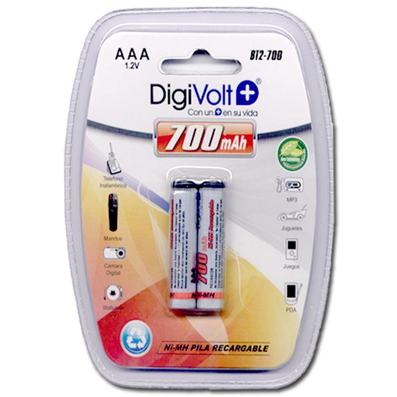 DIGIVOLT BT2-700 PILAS RECARGABLES LR03 AAA (PACK DE 2)