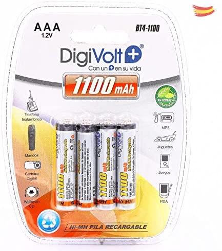 DIGIVOLT BT4-1100 PILAS RECARGABLES LR03 AAA (PACK DE 4)