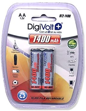 DIGIVOLT BT2-1400 PILAS RECARGABLES LR06 AA (PACK DE 2)