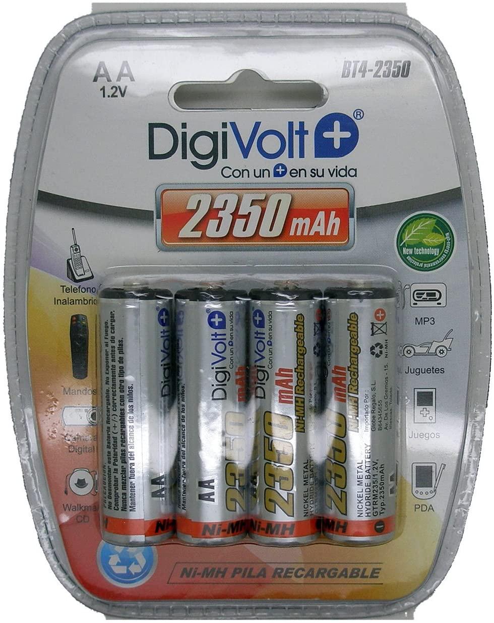 DIGIVOLT BT4-2350 PILAS RECARGABLES LR06 AA (PACK DE 4)