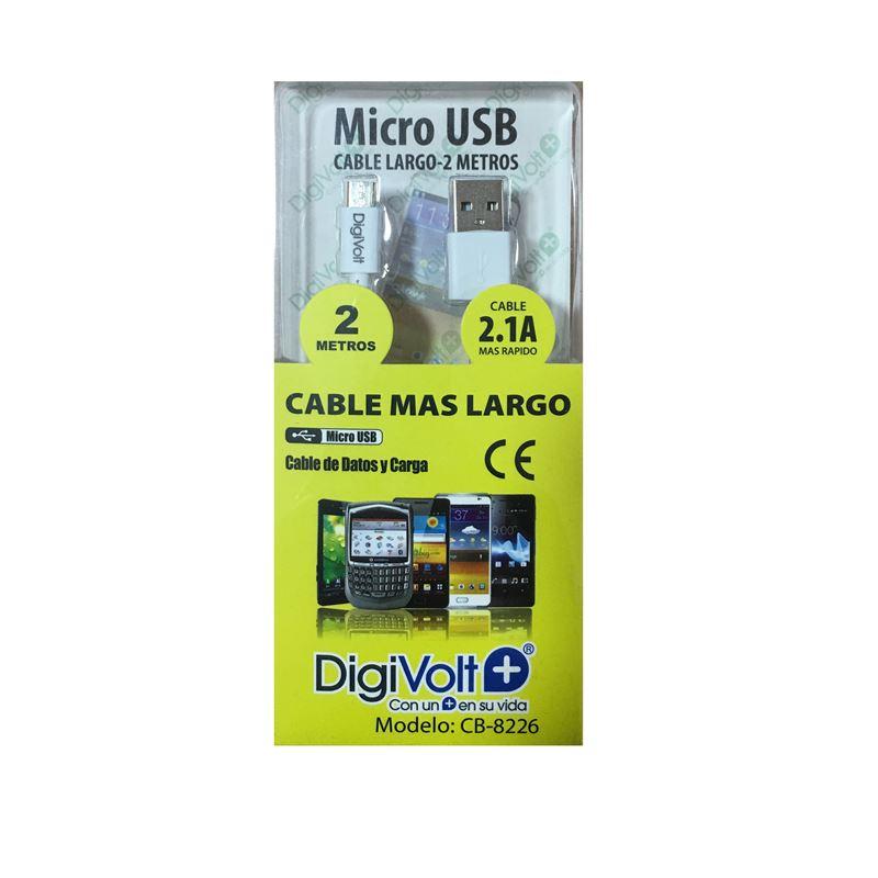 DIGIVOLT CABLE CB-8226 MICRO USB LARGO 2M