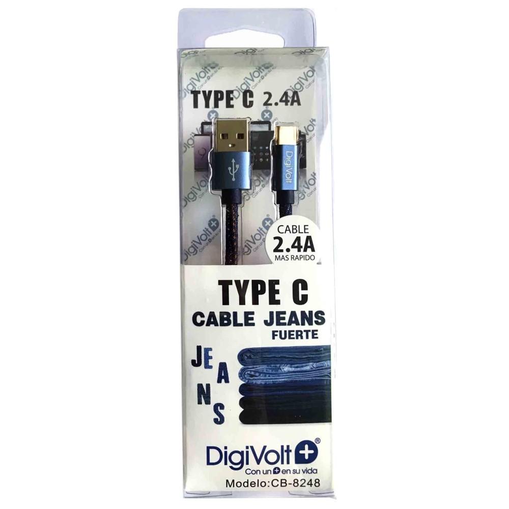 DIGIVOLT CABLE CB-8248 TIPO C VAQUERO - NEGRO