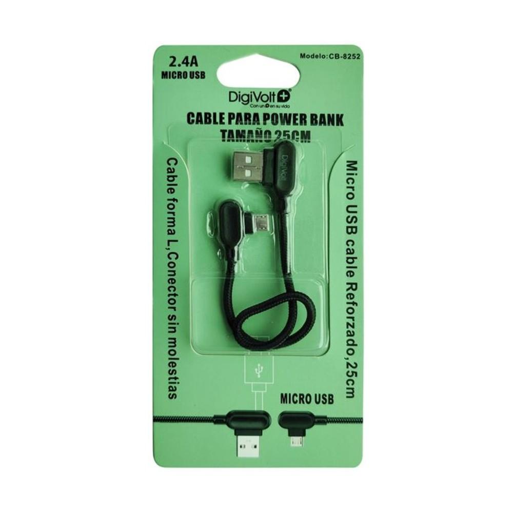 DIGIVOLT CABLE CB-8252 FORMA L MICROUSB - BLANCO