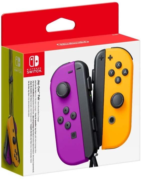 NINTENDO Mando Joy-Con Izq-Dcha Lila y Naranja Nintendo Switch