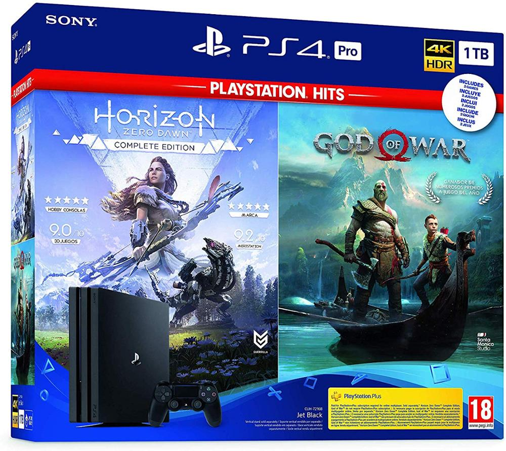 SONY Consola PS4 PRO 1TB + Horizon Zero Dawn Complete ED. + God of War