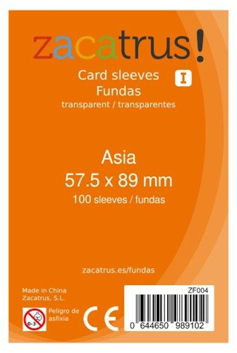 Fundas Zacatrus Asia (57,5 mm x 89 mm) (100 uds)