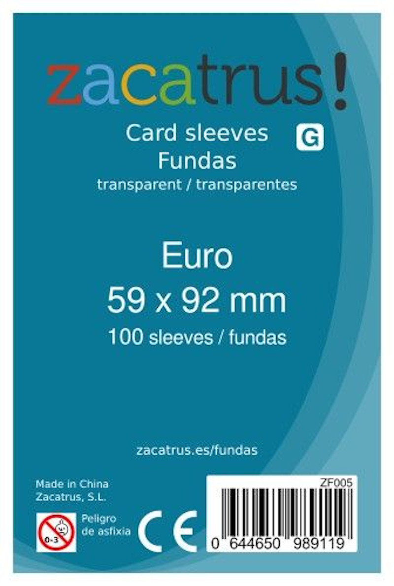 Fundas Zacatrus Euro (59 mm X 92 mm) (100 uds)