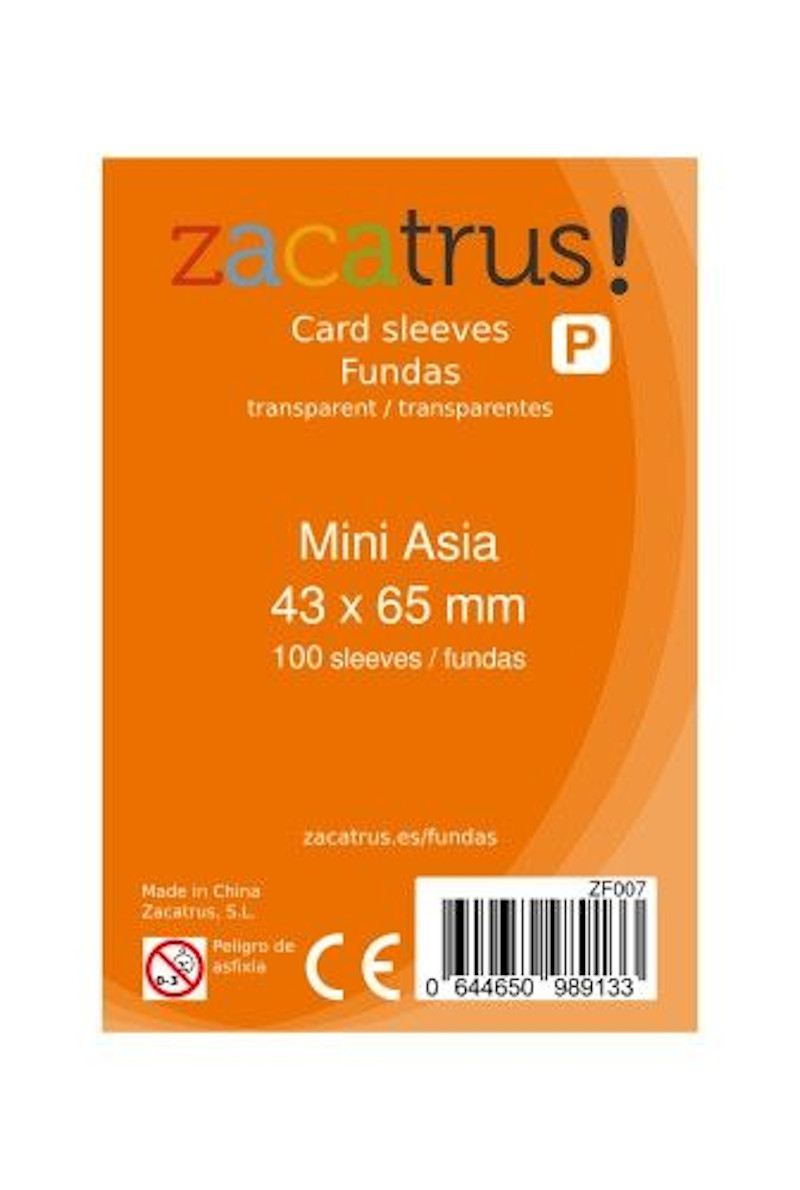 Fundas Zacatrus Mini Asia (43 mm X 65 mm) (100 uds)