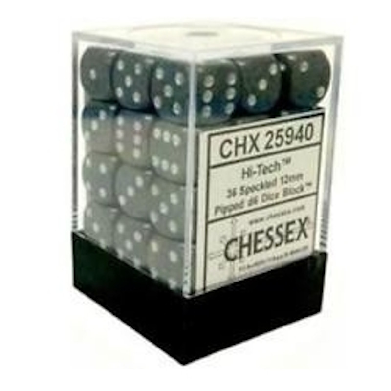 Dados de 6 caras Speckled Chessex. Hi-Tech D6 - Bloque de 36