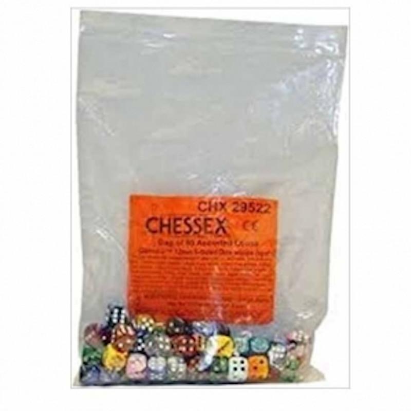 Bolsa de 50 dados variados Gemini D6 12mm Chessex 29522