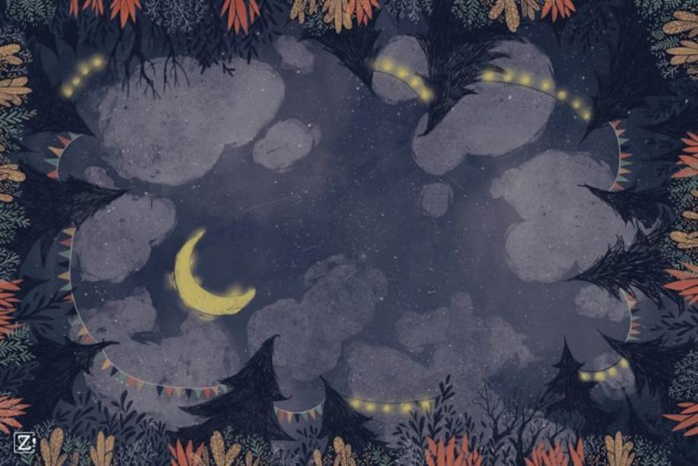 Tapete Neopreno Noche Zacatrus 60x90