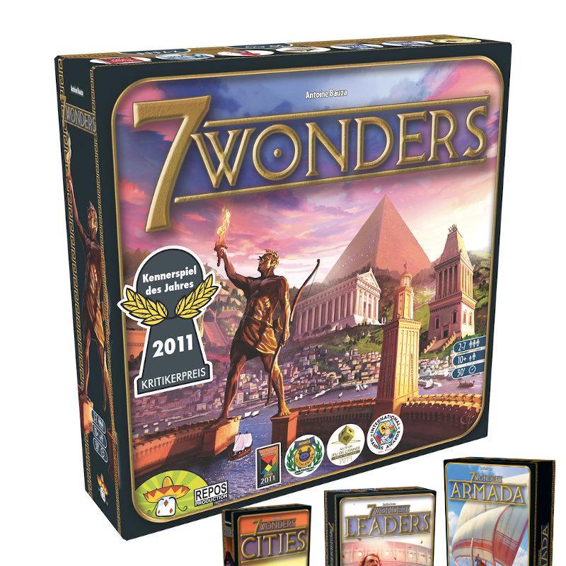 7 Wonders Pack Básico + 3 expansiones