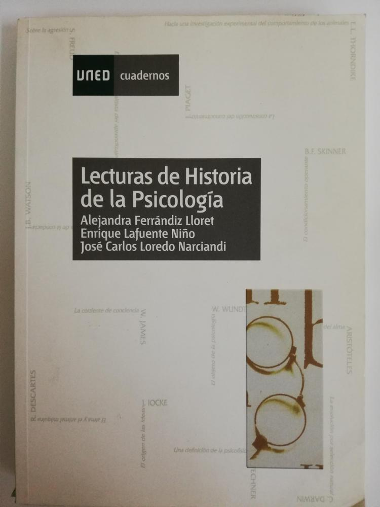UNED LECTURAS DE HISTORIA DE LA PSICOLOGÍA