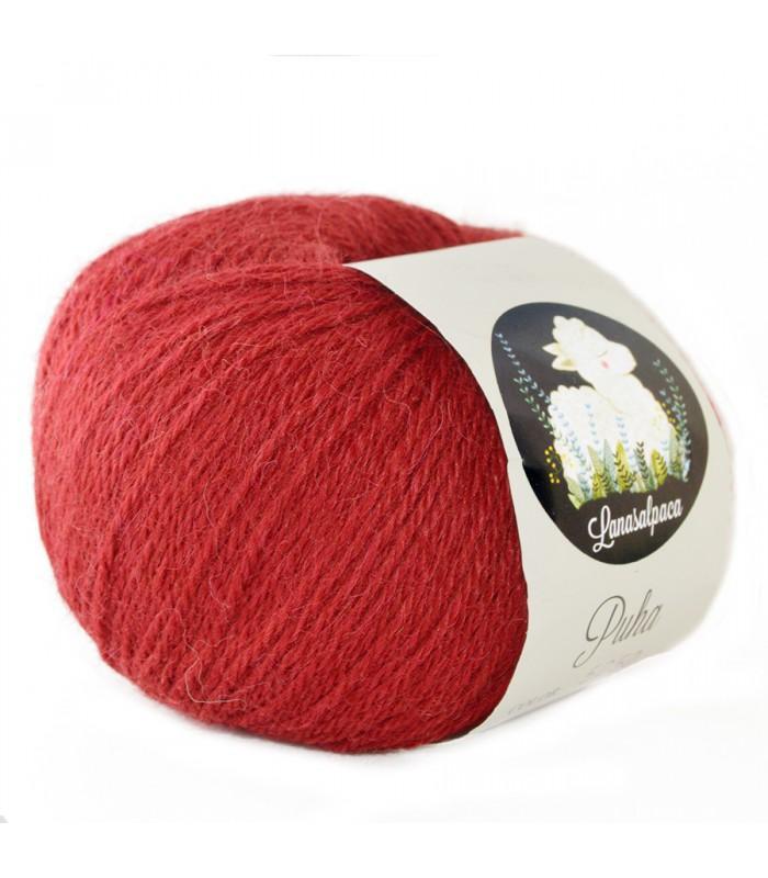Lanas Alpaca Puha Rojo 5050
