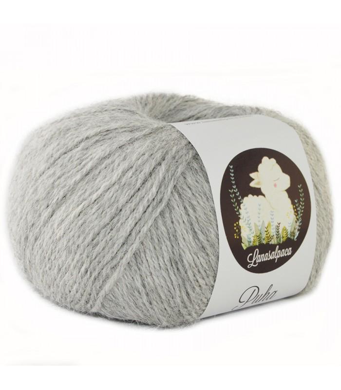 Lanas Alpaca Puha Gris Claro 5011