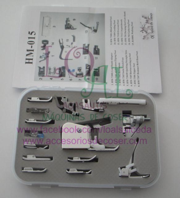 kit de prensatelas , caja de prensatelas variado , prensatelas para maquina de coser , prensatelas variados