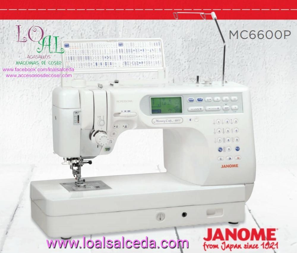 MAQUINA DE COSER JANOME MC6600P