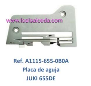 Placa de aguja remalladora Juki 655DE